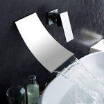 Robinets mélangeurs Pour baignoire Évier Cascade Montage mural Incurvé Chrome poli de la marque Inchant image 1 produit