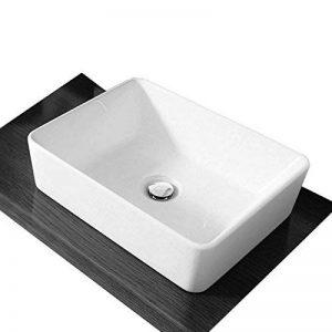 Salle de bain avec lavabo en céramique Blanc savoir carré Bol à poser pour de la marque Bathroom store image 0 produit
