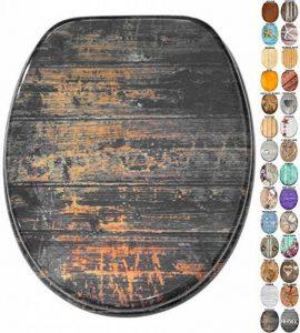 Sanilo Abattant WC Frein de Chute Soft Close - Grande sélection de abattants WC en Bois - Finition de Haute qualité (Vintage) de la marque Sanilo image 0 produit