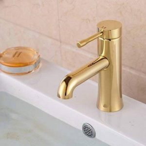 Senlesen Fini doré de salle de bain Lavabo Robinet Poignée simple Montage Bord robinet mitigeur de la marque Senlesen image 0 produit
