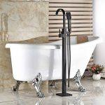 Senlesen Fixation au sol Baignoire robinet sur pied pour baignoire avec douchette, Bronze huilé de la marque Senlesen image 4 produit