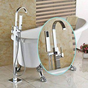 Senlesen sur pied de sol robinet pour baignoire monté robinet mitigeur avec pommeau de douche, finition chrome de la marque Senlesen image 0 produit