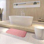 SINMEY Tapis de Bain Antiderapant en PVC avec Ventouses Anti Glisse pour Salle de Bain,Maison,Cuisine-70 x 36.5cm (Rose) de la marque SINMEY image 4 produit