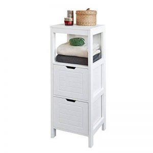 SoBuy® FRG127-W Meuble Colonne Meuble Bas de Salle de Bain Armoire Toilette – 1 étage et 2 tiroirs de la marque SoBuy image 0 produit
