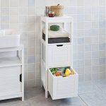 SoBuy® FRG127-W Meuble Colonne Meuble Bas de Salle de Bain Armoire Toilette – 1 étage et 2 tiroirs de la marque SoBuy image 1 produit