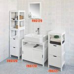 SoBuy® FRG127-W Meuble Colonne Meuble Bas de Salle de Bain Armoire Toilette – 1 étage et 2 tiroirs de la marque SoBuy image 3 produit