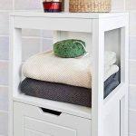 SoBuy® FRG127-W Meuble Colonne Meuble Bas de Salle de Bain Armoire Toilette – 1 étage et 2 tiroirs de la marque SoBuy image 4 produit