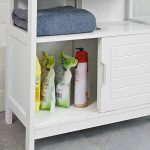 SoBuy® FRG128-W Meuble sous-Lavabo Meuble de Salle de Bain Vasque - 1 étage et 2 Portes coulissantes -Blanc de la marque SoBuy image 4 produit
