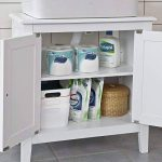 SoBuy® FRG202-W Meuble sous-Lavabo Dessous de lavabo ou Evier Meuble de Salle de Bain Vasque à 2 étages et 2 Portes -Blanc de la marque SoBuy image 3 produit