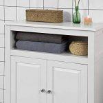 SoBuy FRG204-W Meuble Bas de Salle de Bain Armoire Toilette Buffet Commode – Blanc de la marque SoBuy image 4 produit