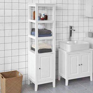 SoBuy® FRG205-W Meuble Colonne de Salle de Bain Armoire Toilette Haute – Blanc de la marque SoBuy image 0 produit