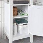 SoBuy® FRG205-W Meuble Colonne de Salle de Bain Armoire Toilette Haute – Blanc de la marque SoBuy image 2 produit