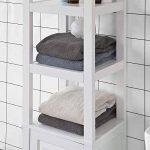 SoBuy® FRG205-W Meuble Colonne de Salle de Bain Armoire Toilette Haute – Blanc de la marque SoBuy image 4 produit