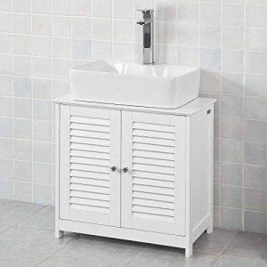 SoBuy® FRG237-W Meuble sous-Lavabo Meuble de Salle de Bain Vasque - 2 Portes et 2 étages à l'intérieur -Blanc de la marque SoBuy image 0 produit