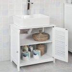 SoBuy® FRG237-W Meuble sous-Lavabo Meuble de Salle de Bain Vasque - 2 Portes et 2 étages à l'intérieur -Blanc de la marque SoBuy image 2 produit