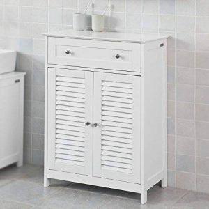 SoBuy® FRG238-W Meuble Bas de Salle de Bain Armoire Toilette Buffet Commode – Blanc de la marque SoBuy image 0 produit