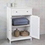 SoBuy® FRG238-W Meuble Bas de Salle de Bain Armoire Toilette Buffet Commode – Blanc de la marque SoBuy image 2 produit