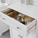 SoBuy® FRG238-W Meuble Bas de Salle de Bain Armoire Toilette Buffet Commode – Blanc de la marque SoBuy image 3 produit