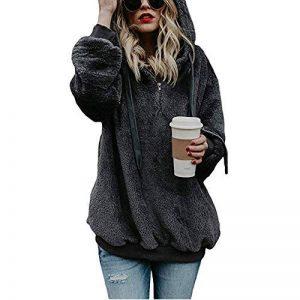 Sweatshirt CIELLTE Femme Manches Longues 2018 Mode Pull Couleur Unie Branché Hoodies Automne Hiver Extensible Blouses Occasionnels Loisir de la marque CIELLTE Sweats à Capuche image 0 produit
