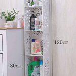 Étagère de salle de bain, étagère de rangement imperméable pour salle de bain, ferme de lavage blanche pour lavabo, support de finition pour sol, disponible en deux tailles ( taille : 120 models ) de la marque Purki image 1 produit