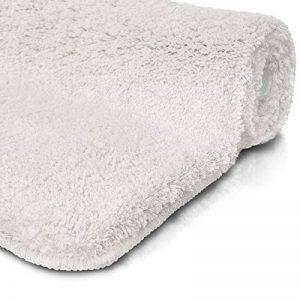 Tapis de bain blanc | certifié Oeko-Tex 100 et lavable | poil très doux | plusieurs tailles au choix - 50x60cm de la marque casa pura image 0 produit
