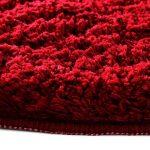 Tapis de bain casa pura série PREMIUM | certifié Oeko-Tex 100 - poils très doux | tailles et couleurs au choix - rouge 50x60cm de la marque casa pura image 3 produit