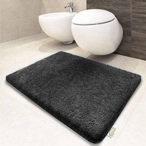 Tapis de bain gris foncé | certifié Oeko-Tex 100 et lavable | poil très doux | plusieurs tailles au choix - 50x60cm de la marque casa pura image 0 produit