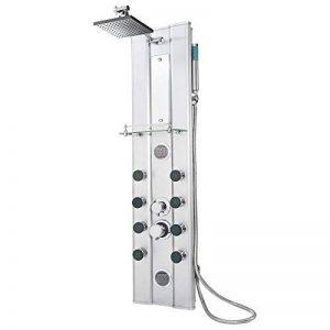 TecTake Colonne panneau de douche en aluminium à effet massage robinet avec mitigeur de douche kit de la marque TecTake image 0 produit