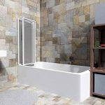 TecTake Pare-baignoire portes coulissantes à 3 panneaux blanc - diverses tailles - (132x140cm | No. 402751) de la marque TecTake image 3 produit