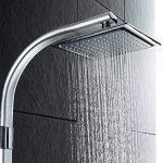 TecTake Système de douche à effet pluie et douchette à main | Pommeau de douche effet pluie à 100 buses | Tête de douche à articulation sphérique de la marque TecTake image 4 produit