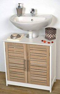 TENDANCE Meuble Dessous de lavabo ou Evier - 2 Portes et 1 étagère - Aspect Chêne Vieilli de la marque TENDANCE image 0 produit