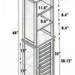 TENDANCE–Miami Haute Structure du boîtier de Couleur + 1Porte + 3étagères en MDF, Bois, Blanc, 35x 26x 173cm de la marque TENDANCE image 1 produit