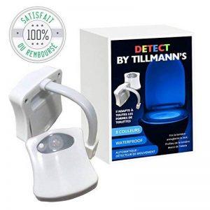 Tillmann's Lumière Cuvette Wc/Led Wc 8 couleurs/Lumière Toilette Veilleuse/Détecteur de Mouvement pour un allumage automatique/S'adapte à toutes les cuvettes/Manuel d'utilisation en Francais de la marque Detect image 0 produit