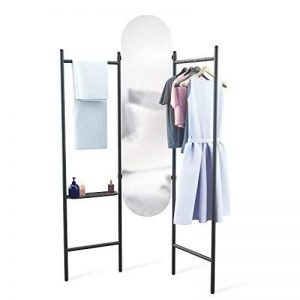 Umbra Vala Floor Mirror, Métal, Noir, 180.34 x 119.38 x 11.43 cm 1009611-040 de la marque Umbra image 0 produit