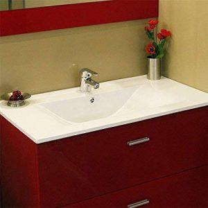 UneSalleDeBain Plan simple vasque céramique CÉRAPLAN - 70 cm de la marque UneSalleDeBain image 0 produit