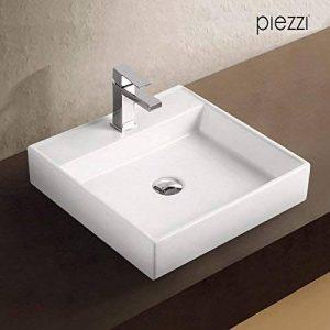 Vasque carrée en céramique blanche - Piazza de la marque Piezzi image 0 produit