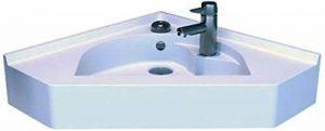Vasque d'angle suspendu blanc 50x50 cm BELISAIRE de la marque UneSalleDeBain image 0 produit
