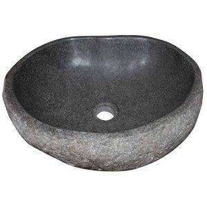 Vasque en pierre naturelle, galet rivière à poser Ø40/50cm. CHOIX SUR PHOTO de la marque MP image 0 produit
