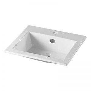 Vasque à encastrer rectangulaire en céramique de la marque Sélection HR image 0 produit