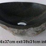 Vasque lavabo en pierre naturelle environ 45cm + 1 bonde standard 8cm. Choix sur photos. de la marque exotica import image 2 produit