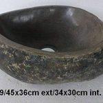 Vasque lavabo en pierre naturelle environ 45cm + 1 bonde standard 8cm. Choix sur photos. de la marque exotica import image 3 produit