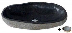 Vasque lavabo à poser en pierre naturelle 60cm + 1 porte savon. Choix sur photos. de la marque exotica import image 0 produit