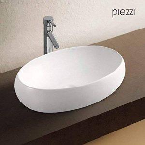 Vasque ovale en céramique blanche - Canoé de la marque Piezzi image 0 produit