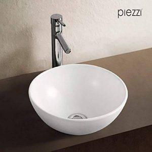 Vasque à poser en céramique blanche, forme bol 32 cm de la marque Piezzi image 0 produit