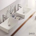 Vasque rectangulaire en céramique blanche - Agata de la marque Piezzi image 1 produit