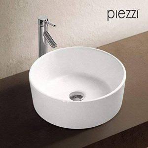 Vasque ronde 40 cm en céramique blanche - Corya de la marque Piezzi image 0 produit