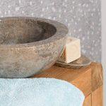 Vasque Ronde BARCELONE à poser en marbre de couleur Gris - Diamètre 30 cm de la marque wanda collection image 2 produit