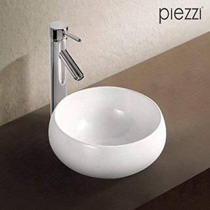 Vasque ronde en céramique blanche 32 cm- Boréal de la marque Piezzi image 0 produit