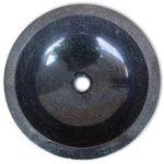 vidaXL Lavabo en marbre 40 cm Noir Vasque à Poser Lave Main Salle de Bain de la marque vidaXL image 3 produit