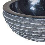 vidaXL Lavabo en marbre 40 cm Noir Vasque à Poser Lave Main Salle de Bain de la marque vidaXL image 4 produit